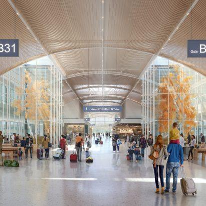 SOM O'Hare Global Terminal satellite concourses