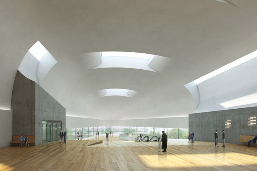 Concert hall at House of Culture in Ostrava, Czech Republic, by Steven Holl Architects and Architecture Acts