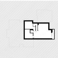 Basement floor plan of Push-Pull House by Cullinan Studio