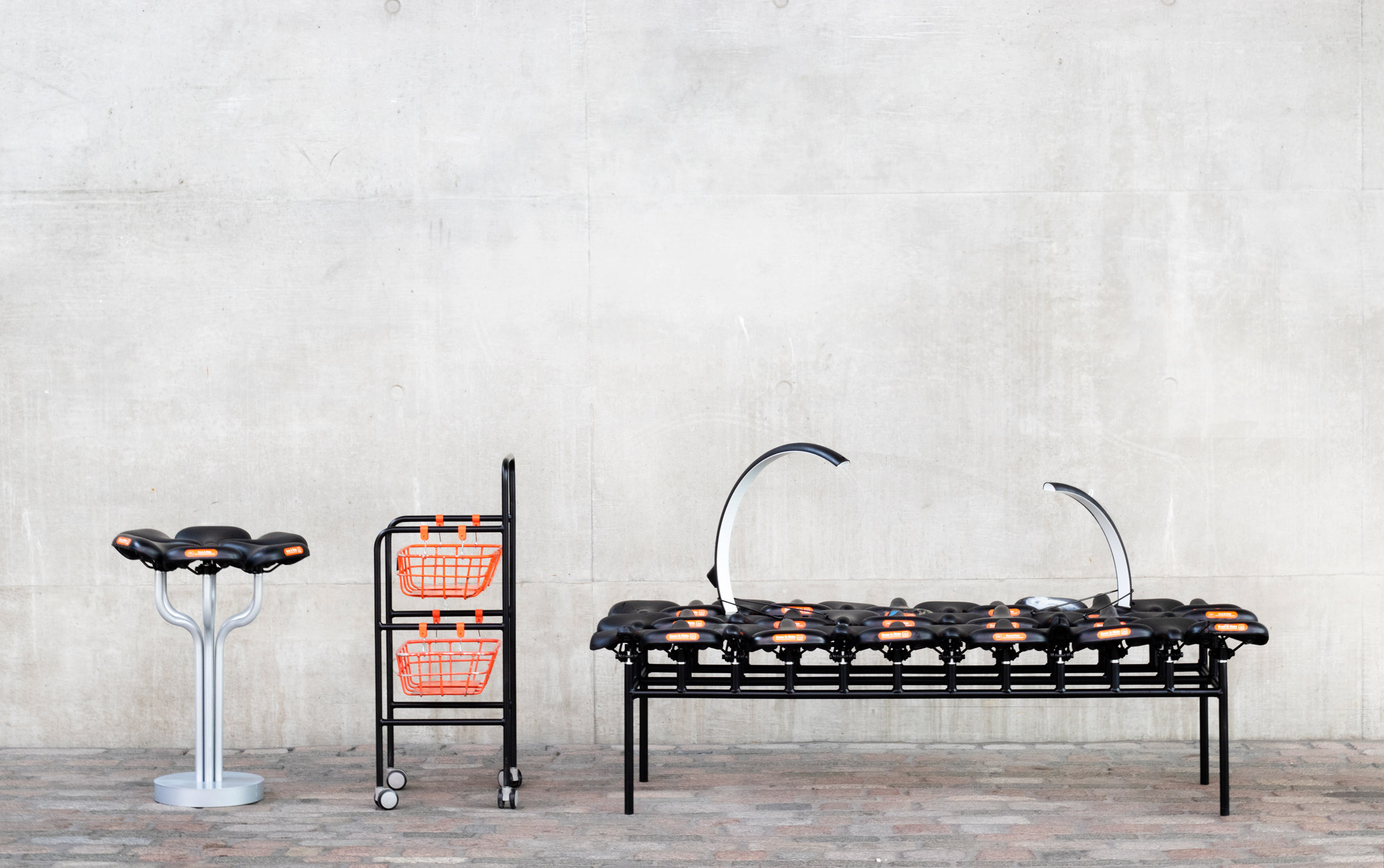 Qiang Huang's Bike Scavengers furniture is made from salvaged shared bicycles