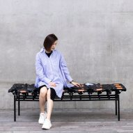 Qiang Huang makes furniture to incorporate salvaged parts from shared bicycles