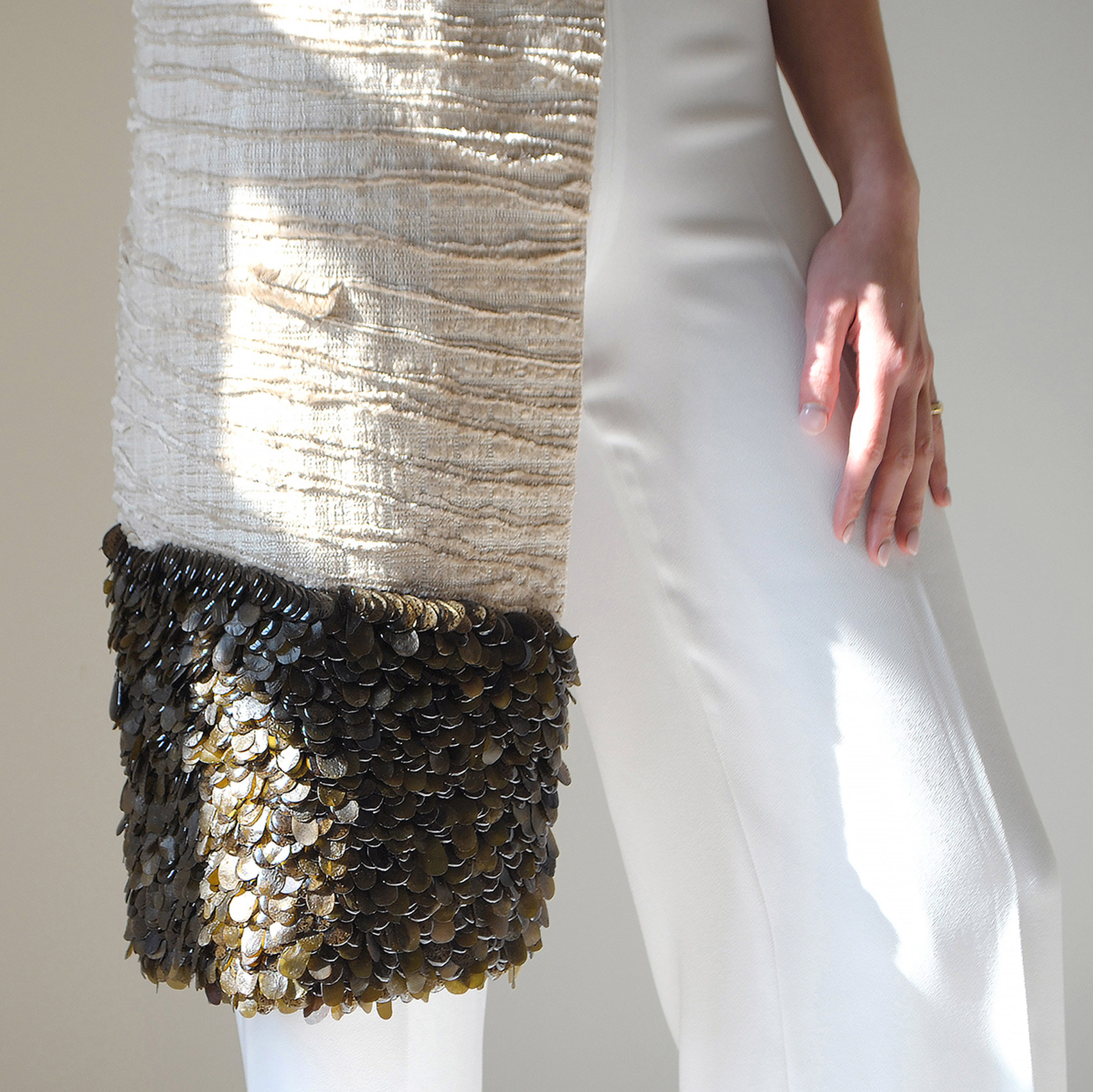 Jasmine Linington uses seaweed to make couture clothing