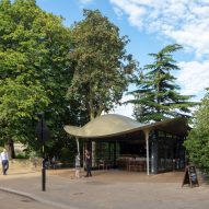 Mizzi Studio completes stingray cafe alongside the Serpentine