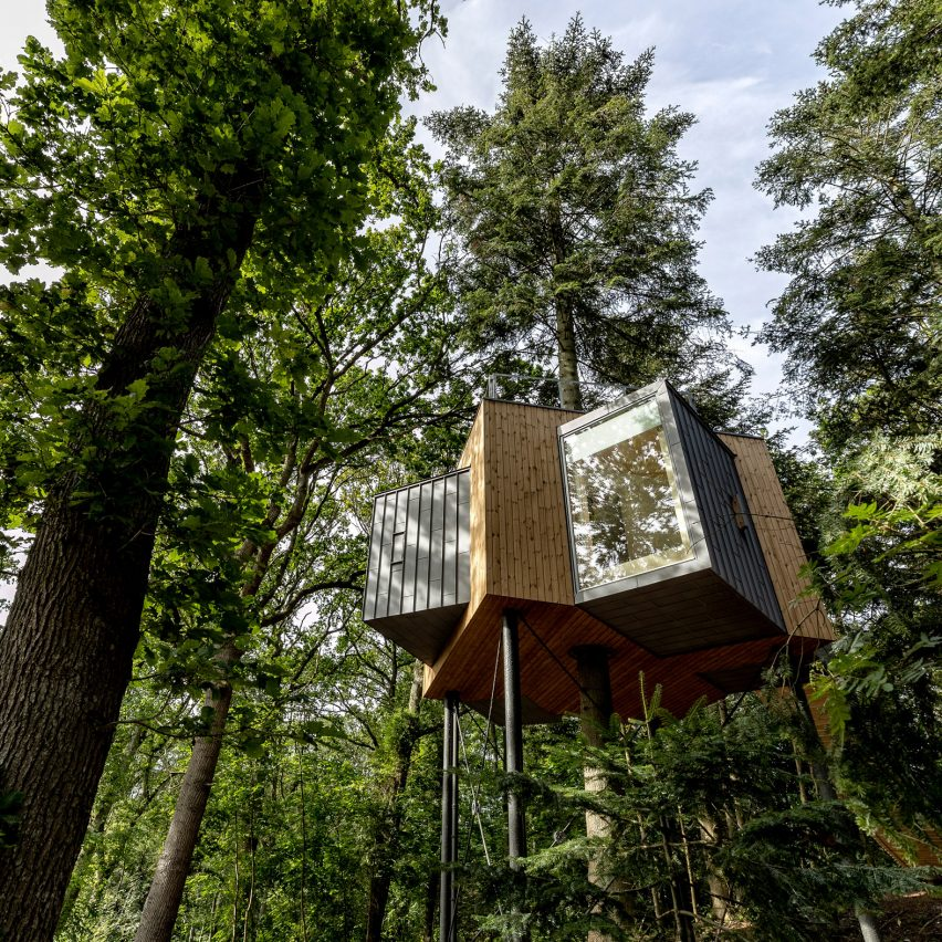 Sigurd Larsen completes treetop hotel cabin