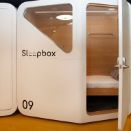 Sleepbox pods installed at Dulles International Airport