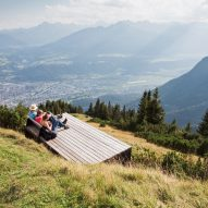 Cantilevered viewpoint on Perspektivenweg walking trail by Snøhetta, Innsbruck, Austria