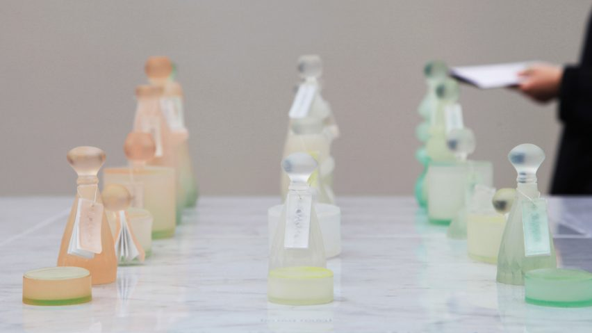 Central Saint Martins post-graduate student Mi Zhou has created Soapack, sustainable bottles for toiletries cast from soap