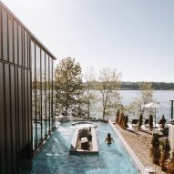 Lemay Michaud designs minimal Strøm Nordic Spa in Quebec City