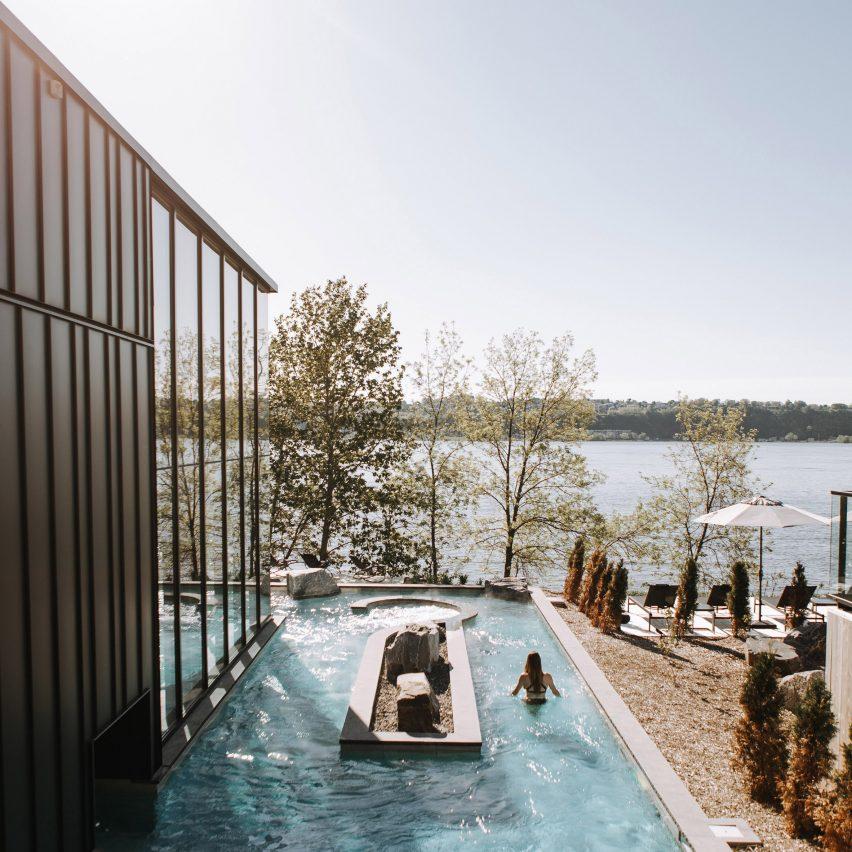 Lemay Michaud designs minimal Strøm Nordic Spa in Quebec City