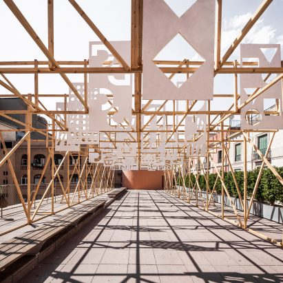 Summer Pavilion by Eugeni Bach, Anthony Burrill and Elisava Barcelona students