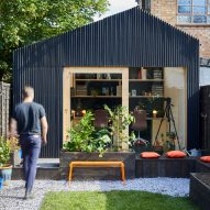 Richard John Andrews builds garden shed as his own architecture studio