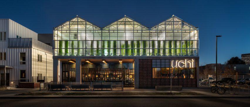 Uchi restaurant and greenhouse in Denver, Colorado by Tres Birds Workshop