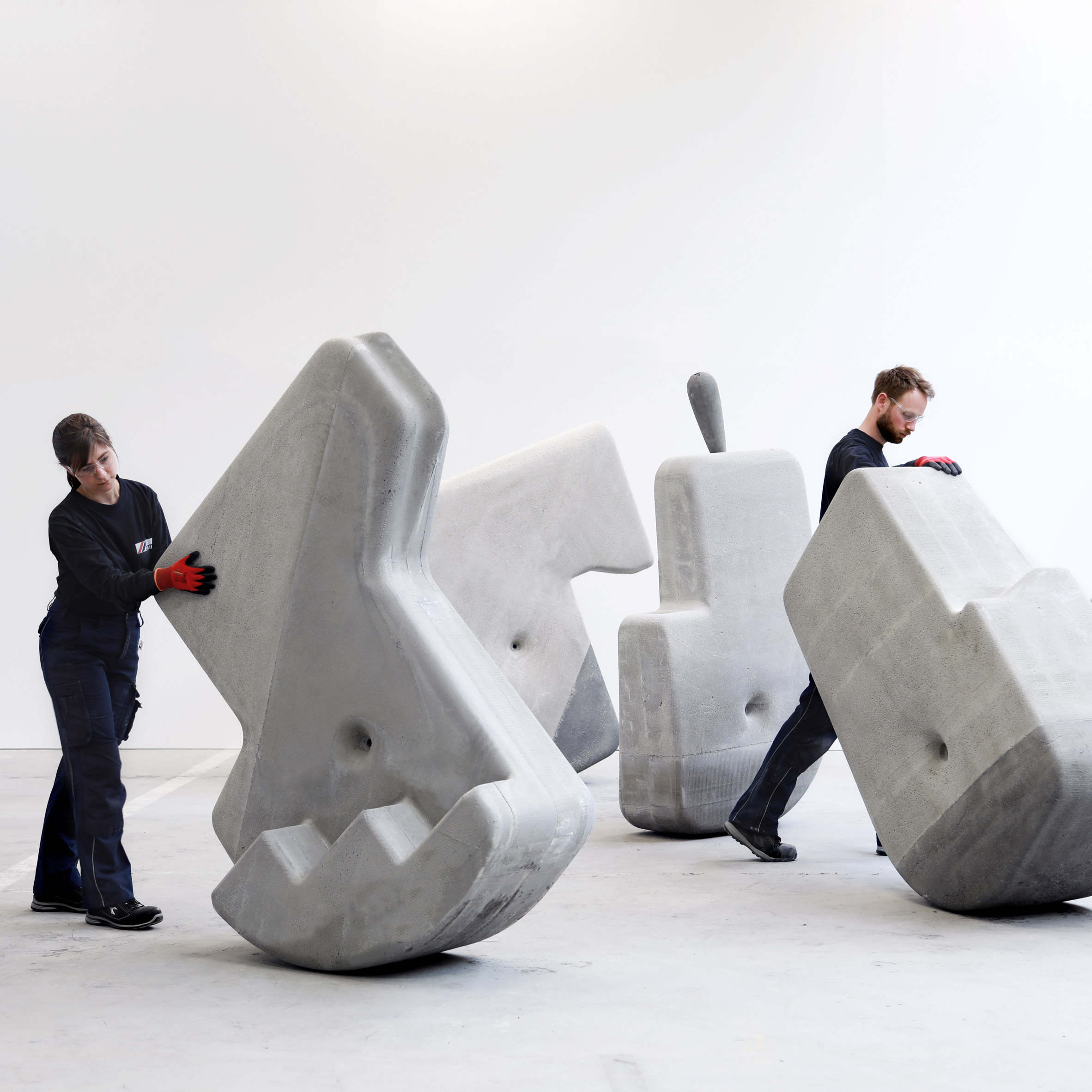 Brandon Clifford S Concrete Sculptures That Sway And Roll Take Cues From Megalithic Architecture