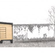 Section of Writer's Shed by Matt Gibson