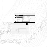 First floor plan of Z House by Geza
