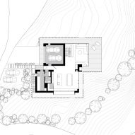 Ground floor plan of Z House by Geza