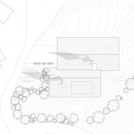Roof plan of Z House by Geza