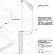 Technical construction detail drawing of Z House by Geza