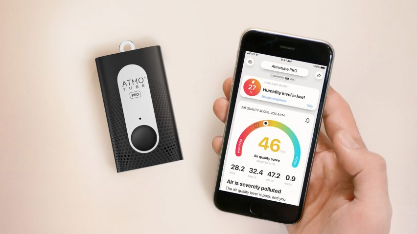 Atmotube air quality tracker