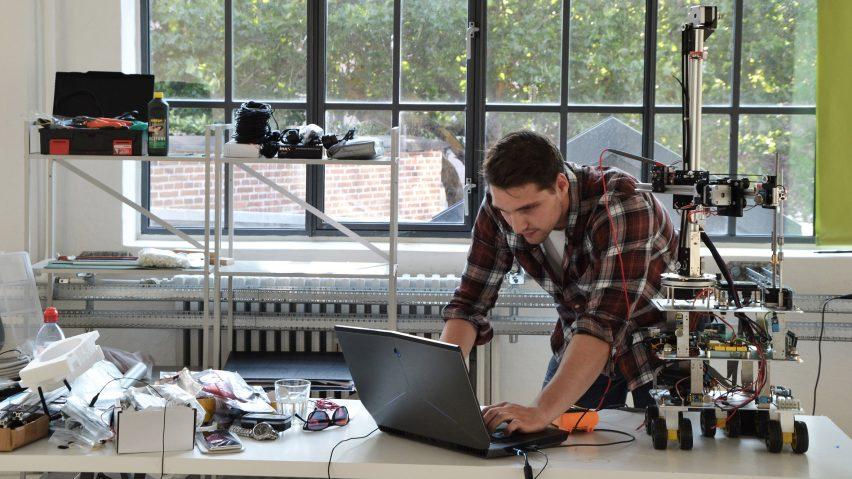 Danish designers propose using roaming 3D-printing robots to repair environments