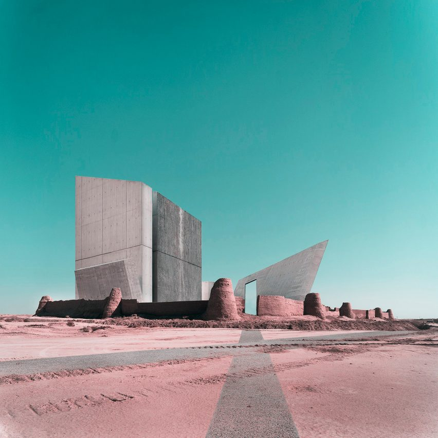 Dezeen Weekly features photomontages combining Iranian archaeological sites with contemporary buildings