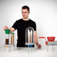 Jamie Pybus designs Fungi Factory kit for growing mushrooms in coffee grounds