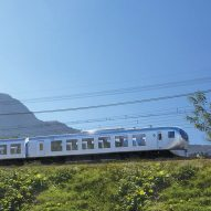 Kazuyo Sejima creates commuter train with giant windows to take advantage of panoramic views