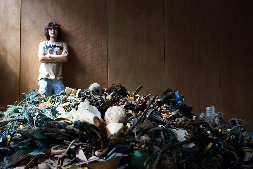 The Ocean Cleanup burning plastic