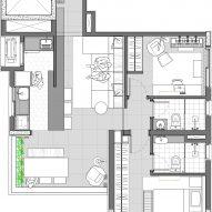 AK Apartment by RUA 141 and Rafael Zalc Plan