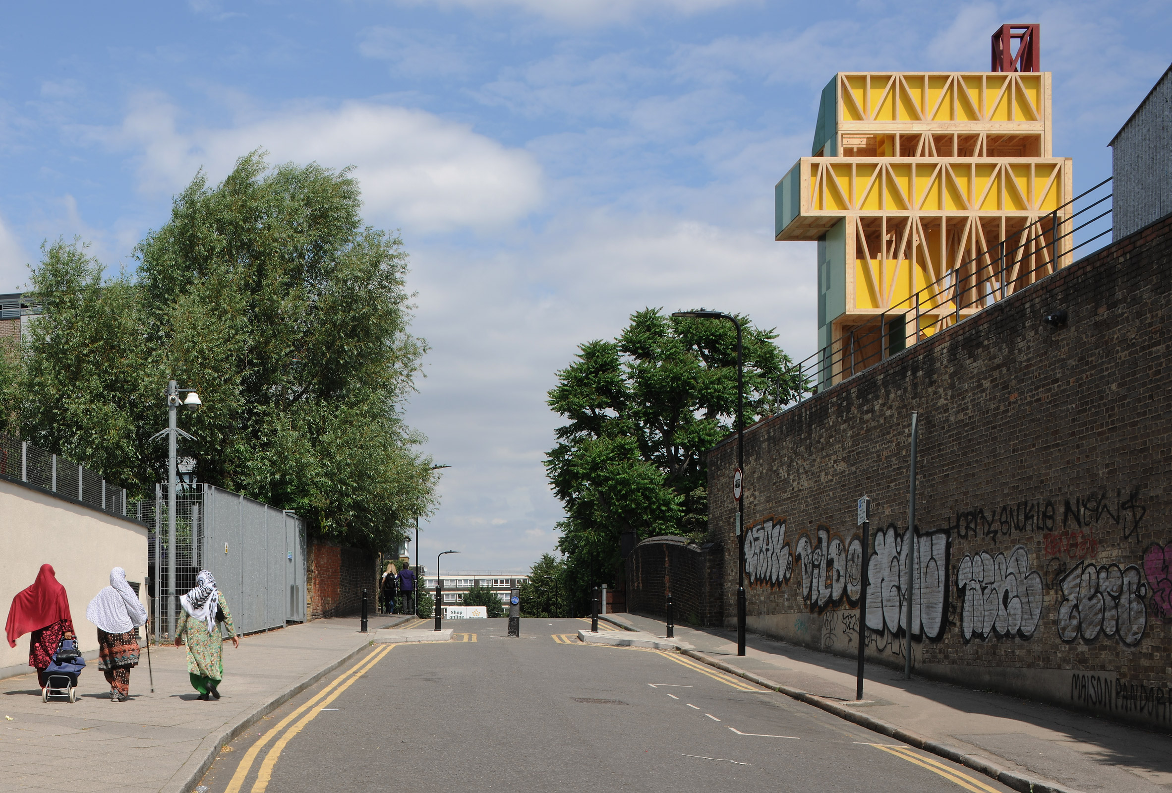 The Potemkin Theatre by Maich Swift Architects in Haggeston London is the third Antepavilion