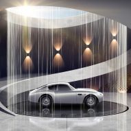 "Dezeen Weekly features Aston Martin's garage design service and Heatherwick Studio's ""gigantic planted pergola"""