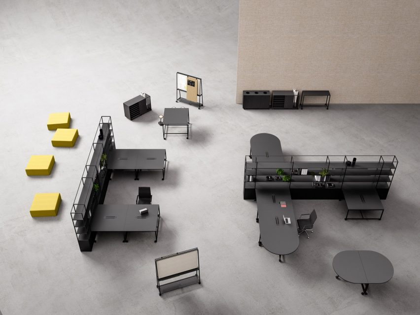 Atelier modular furniture for offices by Gensler