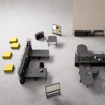 Atelier modular workplace furniture by Gensler