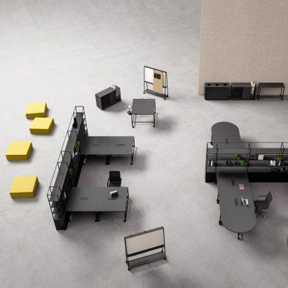 Atelier modular workplace furniture by Gensler