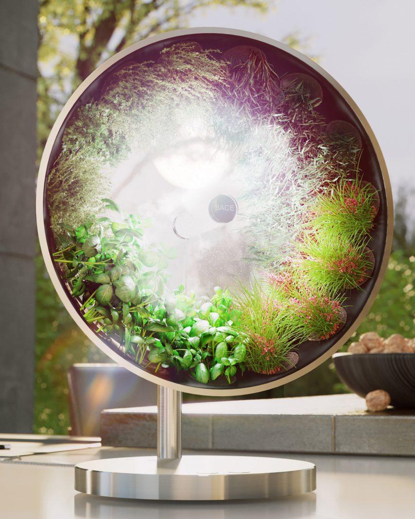 "Bace Rotofarm ""rotary hyponic"" garden by Bace"