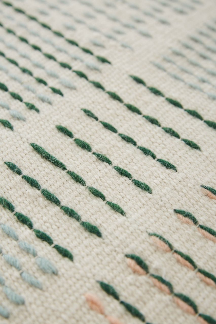 BackStitch rug by Raw Edges for Gan