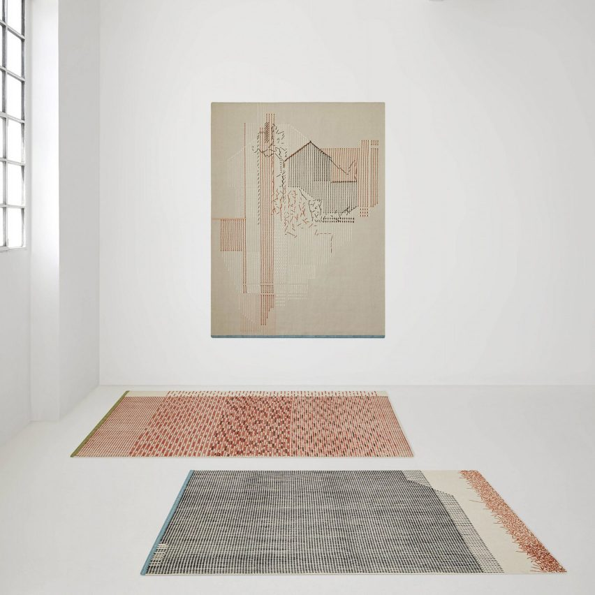 Raw Edges' BackStitch rug collection showcases hidden side of embroidery