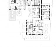 Ground floor plan of Bella Vue housing by Morris + Company for Pegasus Life