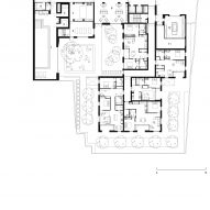 Basement floor plan of Bella Vue housing by Morris + Company for Pegasus Life