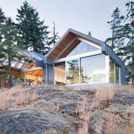 Burgers Architecture designs clifftop island home in British Columbia