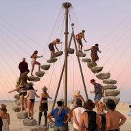Timber pavilions and other-worldly installations animate the plains at Burning Man 2019