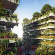 Stefano Boeri unveils vertical forest apartment blocks for Egypt's new capital