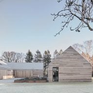 Christoffersen Welling Architects reinterprets Danish barn as cedar-clad home