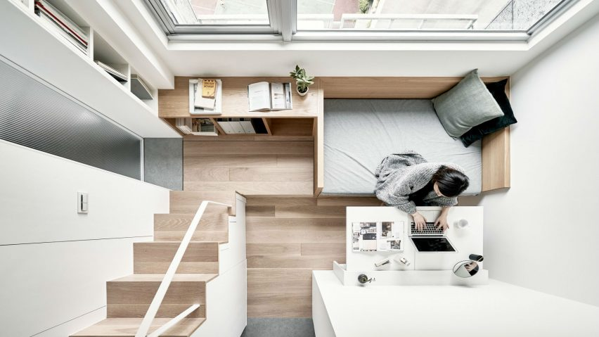 17.6-square-metre flat by A Little Design