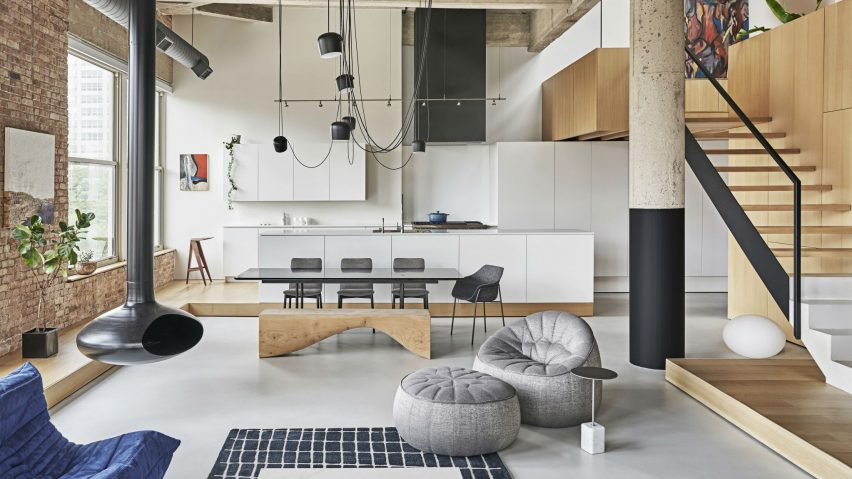 Michigan Loft, Chicago, USA, by Vladimir Radutny Architects