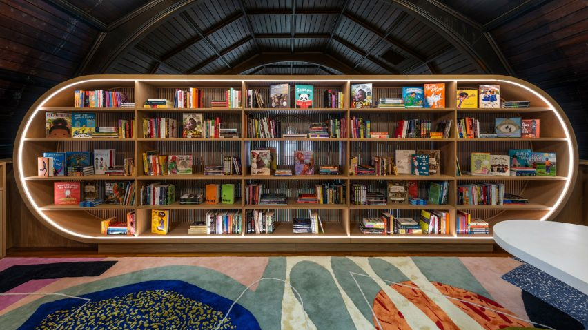 The Children's Library at Concourse House by Michael K Chen Architecture
