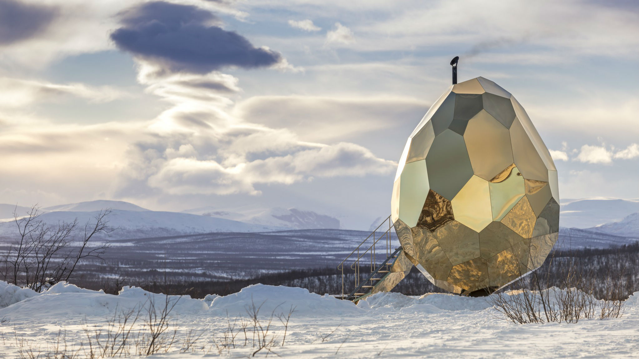 The Solar Egg, Björkliden, Sweden, by Bigert & Bergstrom for Riksbyggen