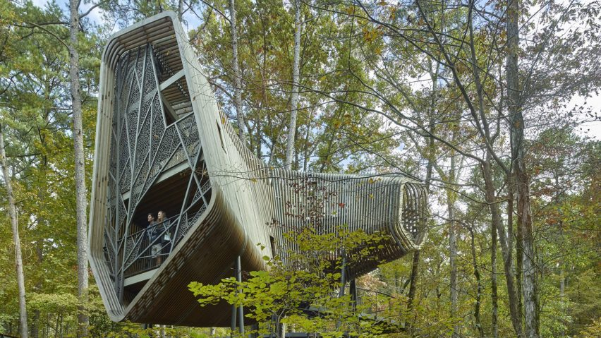 The Evans Tree House at Garvan Woodland Gardens, Arkansas, US, by Modus Studio