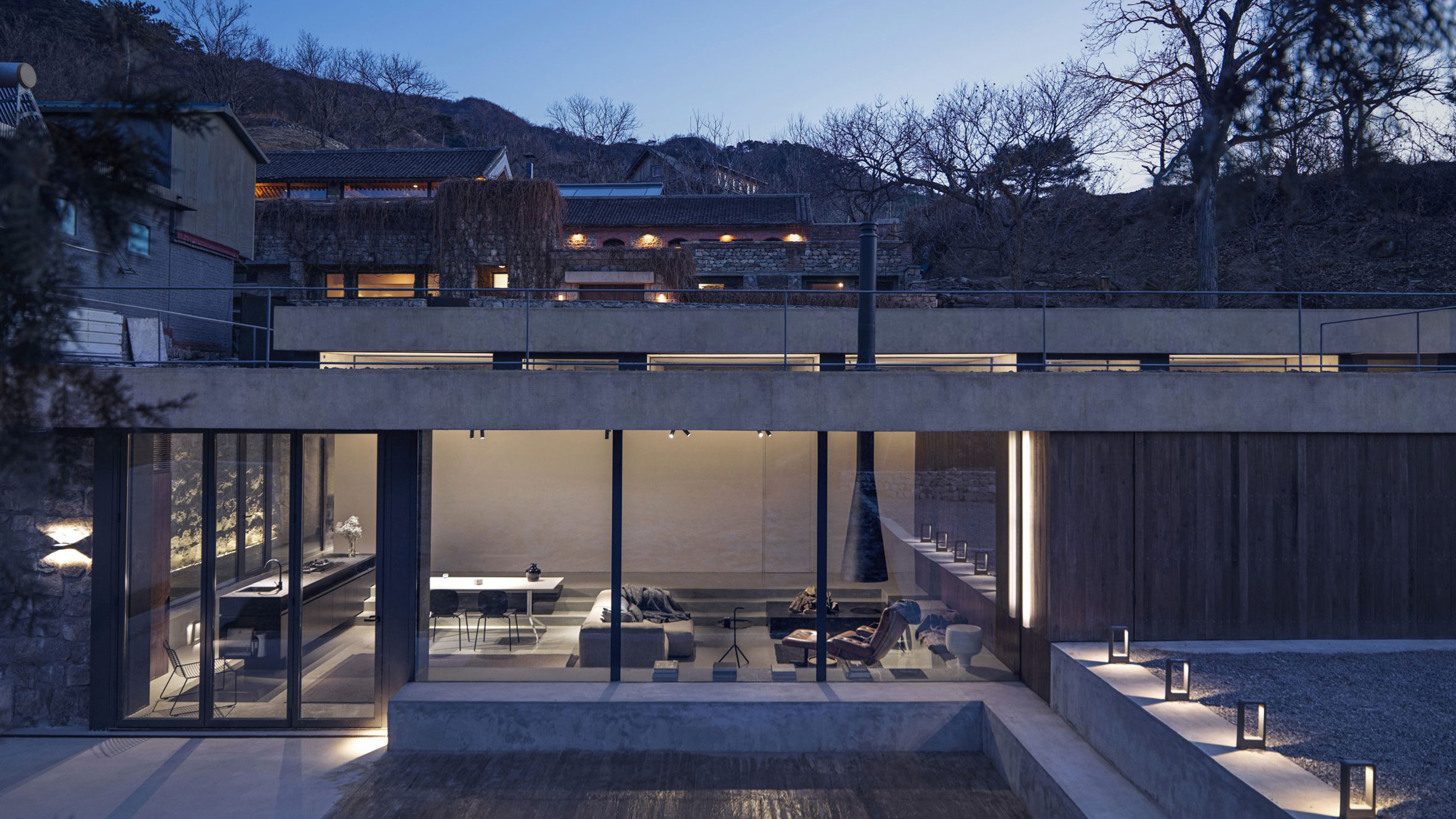 House on the Great Wall, Beijing, China, byMDDM Studio