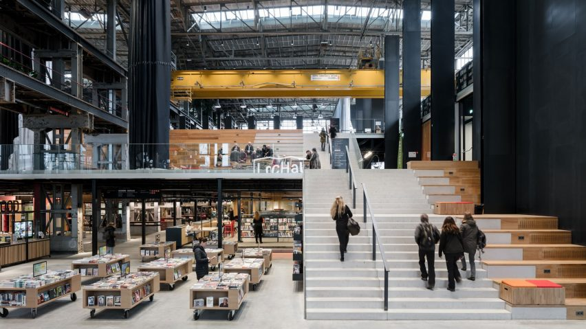 LocHal library, Tilburg, Netherlands, by Civic Architects and Inside Outside/Petra Blaisse